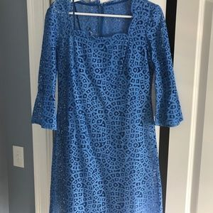 Blue Lace Dress. Size 10